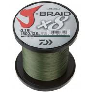 J-Braid X8 Bulk 1500m Dark Green