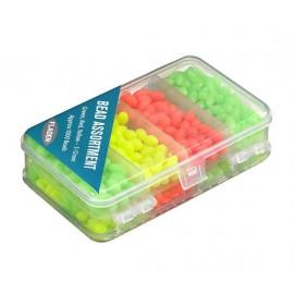 Självysande pärlor i tre färger i box