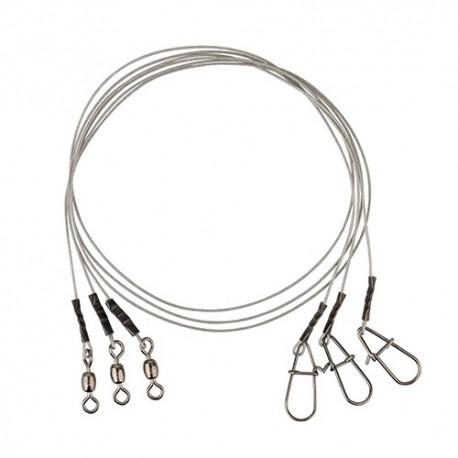 SG Carbon49 Trace 30cm 0.48mm 11kg Swivel/Needle Snap 3pc