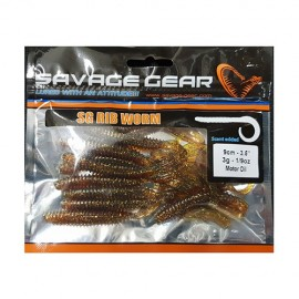 Savage Gear LB Rib Worm 90mm 10pack