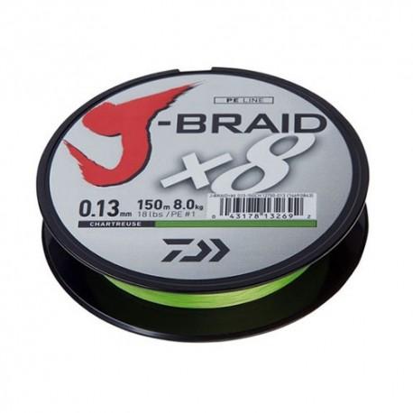 Daiwa J-BRAIDX8 Chartreuse 150m
