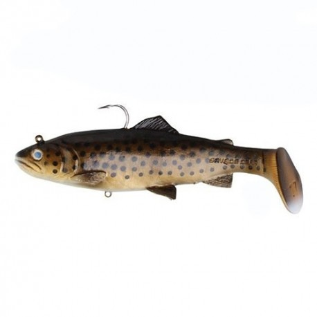3D Trout Rattle Shad Dark Brown Trout